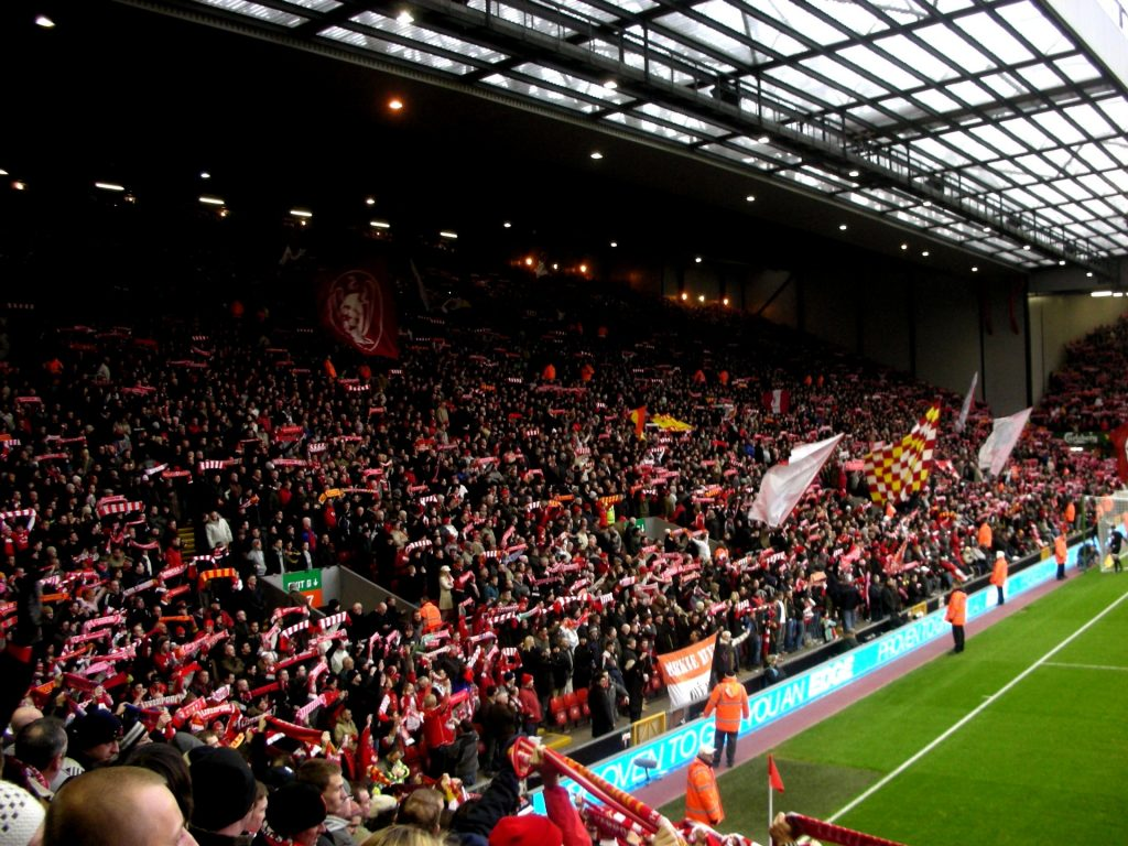 Liverpool, Anfield Road, The Kop, Travel Drift