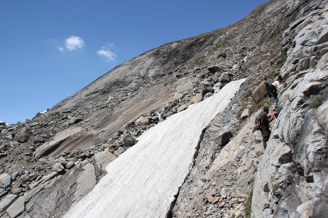 beim Klettern...