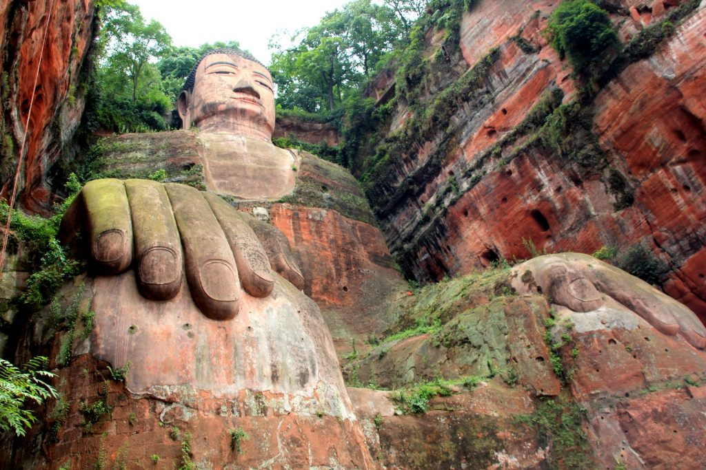 Biggest Sitting Buddha, Leshan, China, Asien, Travel Drift